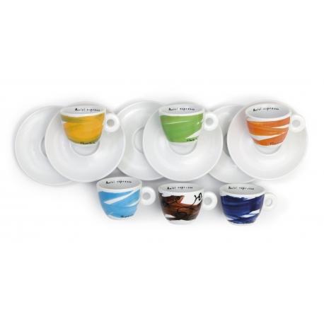 6 Espressotassen Schwung