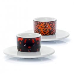 "2 Espresso Cups MOU Sandoz ""Face"""